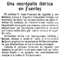 Una necrópolis ibérica en Fuentes